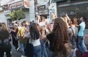 انطلاق مسيرة في رام الله نصرة للأقصى    #جمعة_الأقصى