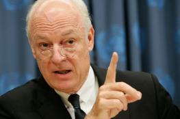 دي ميستورا: شهر أكتوبر سيكون حاسماً في القضية السورية