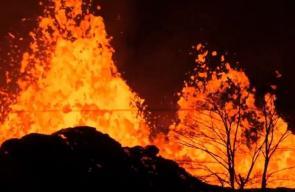 #مباشر.. تدفق الحمم البركانية في #هاواي