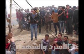 #شاهد مقتطفات من #جمعة_الشهداء_والاسرى من شرق غزة