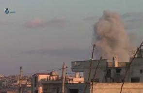 قصف الطيران الحربي والدمار الذي خلفه في مدينة الرستن شمال حمص