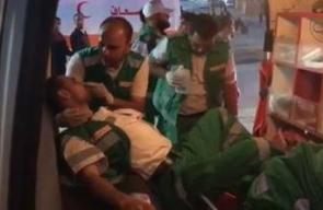 #شاهد استهداف قوات الاحتلال للطواقم الطبية بشكل مباشر خلال #مسيرة_العودة_الكبرى شرق غزة .  تصوير ALaa Mohsen