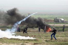 اصابات خلال مواجهات على حدود قطاع غزة