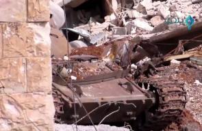 جانب الاشتباكات العنيفة داخل حي المنشية في درعا