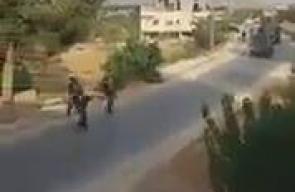 جانب من اقتحام قوات الاحتلال قرية كوبر شمال رام الله صباح اليوم