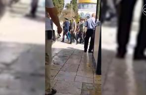 #فيديو مجموعات من المستوطنين يقتحمون باحات المسجد الأقصى المبارك بحماية قوات الاحتلال