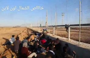 #شاهد / لحظة اصابة الشهيد #أحمد_أبوعقل خلال مواجهات سابقة شرق جباليا_شمال غزة.