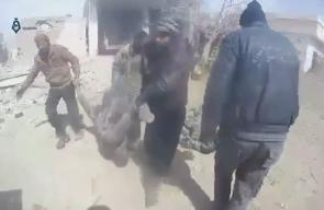 قوات النظام السوري ترتكب مجزرة بحق المدنيين في منطقة المرج بالغوطة الشرقية  (مشاهد قاسية)