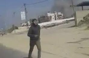 لحظة قصف طائرات الاحتلال لموقع تابع للمقاومة في مخيم النصيرات وسط قطاع غزة  تصوير: اسماعيل النويري