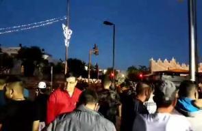 أعداد كبيرة من المستوطنين وسط تعزيزات من قوات الاحتلال يشاركون في مسيرة الاعلام في الذكرى الخمسين لاحتلال القدس المحتلة