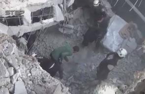 #شاهد  آثار الدمار الذي خلفه القصف الجوي الروسي على بلدة #جرجناز بريف #إدلب والذي أسفر عن استشهاد خمسة مدنيين من عائلة واحدة