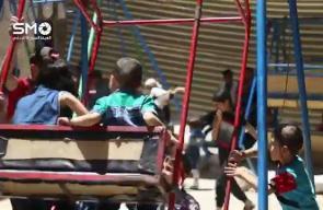 #شاهد فعالية للدفاع المدني في الغوطة الشرقية خلال أيام عيد الفطر بريف دمشق