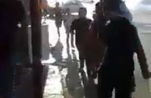 اشتباكات بين مسلحين وأجهزة السلطة، قرب مخيم بلاطة بمدينة نابلس، مساء اليوم.