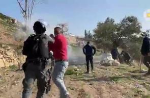 الاحتلال يعتدي على أهالي واد الربابة أثناء تصديهم لتجريف أراضيهم