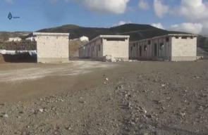 #شاهد مشروع بناء وحدات سكنية بمخيم صدقة على الحدود التركية