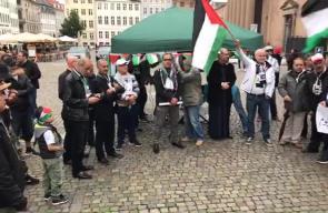 #شاهد #مباشر مظاهرة في العاصمة الدنماركية كوبنهاغن في جمعة الغضب تضامنا مع الاقصى المبارك.   #جمعة_الاقصى