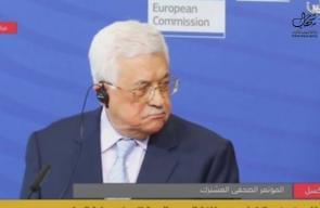 خلال مؤتمر في بروكسيل قلب قليل ..  #شاهد | محمود عباس يجدد تمسكه بالسلام والتعايش مع