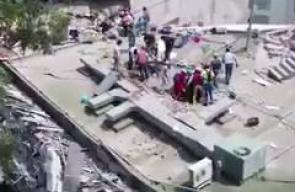 آثار الدمار في مدينة مكسيكو سيتي بسبب زلزال بلغت قوته 7.1 وأدى لمقتل 42 شخصا حتى الآن.