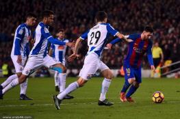 ميسي يكشر عن أنيابه ويقود برشلونة للفوز في الديربي