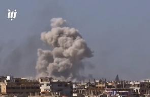 مشاهد لعدد من صواريخ الفيل والبراميل المتفجرة التي ألقتها قوات النظام على أحياء درعا البلد