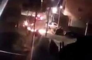 المواجهات التي اندلعت في بلدة حزما شمال شرق القدس المحتلة بعد اقتحامها من قوات الاحتلال