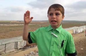 كلمة نارية لأحد الاطفال من داخل مخيم العودة شرق جباليا شمال القطاع  بث انس الشريف