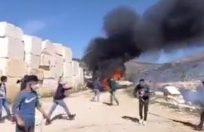 إصابات اثر قمع الاحتلال مسيرة في دير جرير شرق رام الله
