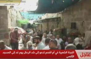 #بث_مباشر نقلاً عن قناة القدس: المقدسيون يستعدون لصلاة العصر أمام باب الأسباط