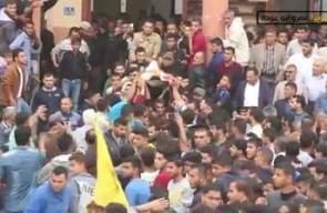 #شاهد  جنازة الشهيد أحمد رشاد العثامنة الذي ارتقى اليوم برصاص قناصة الاحتلال شمال غزة