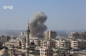 مشاهد لإستهداف حي الوعر المحاصر في #حمص صباح اليوم   تصوير: SMO Syria