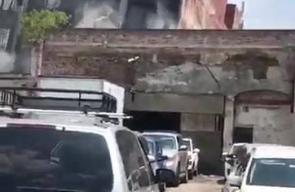 لحظة انهيار المباني في المكسيك جراء الزلزال الذي ضرب البلاد