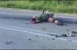 عملية الدهس قرب جنين ..   #فيديو جديد يظهر الجنود الاسرائيليين القتلى ومنفذ العملية