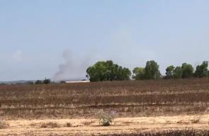 #فيديو تجدد الحرائق في منطقة كيسوفيم قرب حدود قطاع غزة بفعل البالونات الحارقة