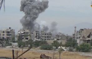 #شاهد غارات جوية استهدفت الأبنية السكنية في حي جوبر بالعاصمة دمشق