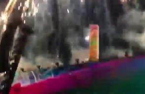 #فيديو المغنّي العالمي Roger Waters يرفع علم #فلسطين خلال حفلة في العاصمة الإيطالية #روما  يشا الى أن المغني