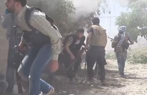 مشاهد من معارك قوات المعارضة والنظام في حي القابون شرق دمشق