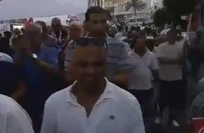 #شاهد مظاهرة في مدينة قابس جنوب تونس نصرة للمسجد الأقصى المبارك .  #جمعة_الأقصى