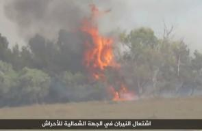 النيران تشتعل في مستوطنات الاحتلال على حدود غزة بفعل البالونات والطائرات الحارقة