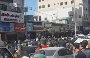 #شاهد أجهزة السلطة تقمع مسيرة ينظمها حزب التحرير بالخليل إحتجاجا على الإعتقال السياسي