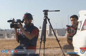 #شاهد| قوات الاحتلال تستهدف صحفيي قناة الجزيرة والقدس خلال مواجهات على حدود غزة