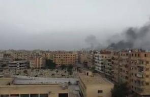 #شاهد أكثر من 215 غارة جوية شنها الطيران الحربي الروسي والسوري على أحياء التضامن ومخيم اليرموك والحجر الأسود اليوم.