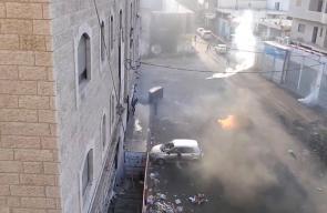 #شاهد | تجدد المواجهات بين الشبان وقوات الاحتلال في مخيم شعفاط بالقدس المحتلة .  #جمعة_الأقصى