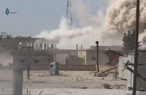 قصف الطيران المروحي بالبراميل المتفجرة على أحياء درعا البلد
