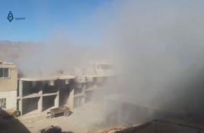 ميليشيات النظام السوري تقصف بلدة #مضايا المحاصرة