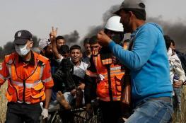 الاحصائية التراكمية لاعتداءات الاحتلال بحق المشاركين في مسيرة العودة الكبرى بغزة