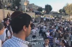 استفزازات المستوطنين برقصاتهم في ذكرى احتلال القدس.