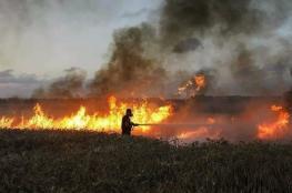 14 حريقًا في غلاف غزة اليوم