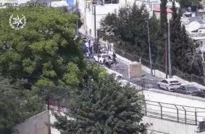 جانب من المواجهات التي اندلعت في القدس المحتلة نصرة للمسجد الأقصى