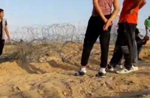 #مباشر من المواجهات المندلعة على الحدود الشرقية لمخيم البريج وسط قطاع غزة نصرة للمسجد الأقصى المبارك .  #جمعة_الأقصى