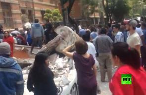 زلزال قوي بشدة 7,4 درجات على مقياس ريختر يخلف دمارا هائلا في العاصمة المكسيكية.